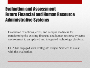 Evaluation of Options for Financial and Human Resource