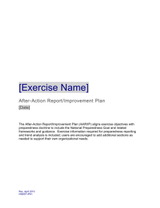 After-Action Report/Improvement Plan Template