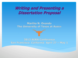 Writing and Presenting a Diss Proposal_9Apr2013