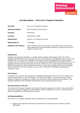 First Line IT Support Assistant