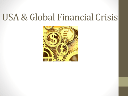USA & Global Financial Crisis