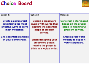 Choice Board Sample Math