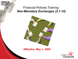 Non-Monetary Exchanges