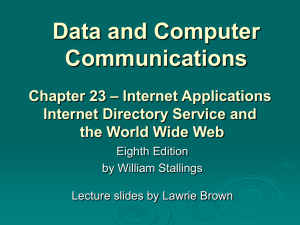 Chapter 23 - William Stallings, Data and Computer Communications