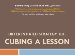 Differentiated Strategy 101: Cubing a Lesson