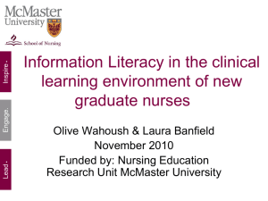 Information Literacy in the clinical learning environment of new
