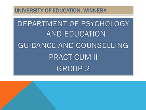 implications contd - University of Education, Winneba