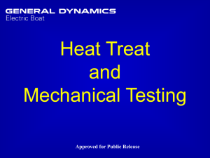 heat treat & mechanical test