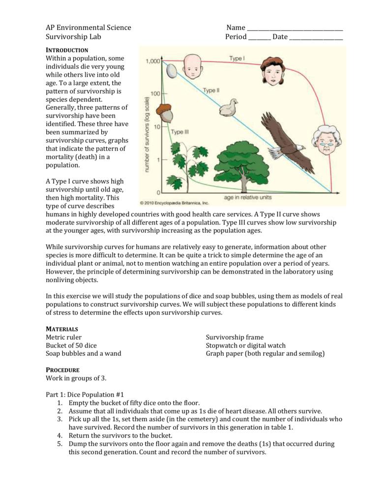 Ap environmental science name survivorship lab period ccuart Image collections
