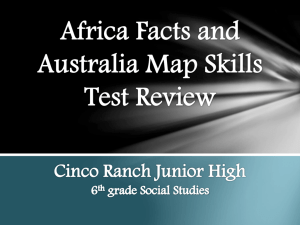 Africa Facts and Australia Map Test PowerPoint