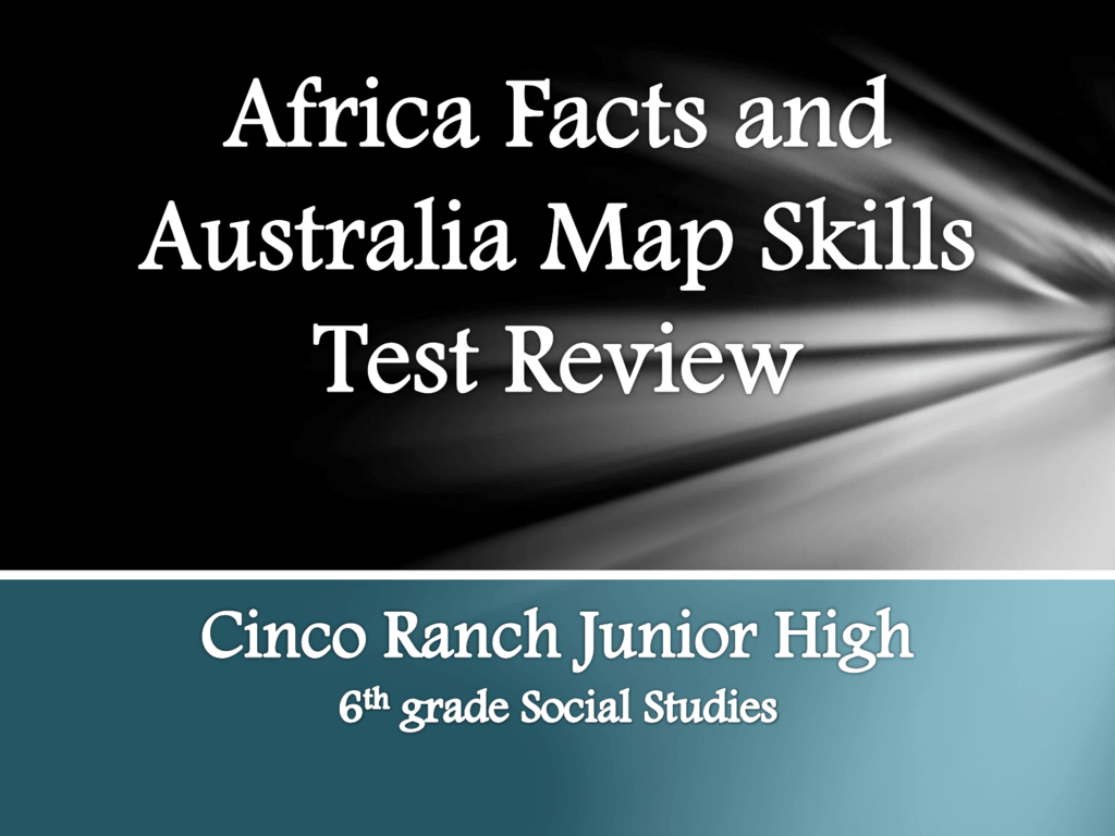 Map Of Australia Facts.Africa Facts And Australia Map Test Powerpoint