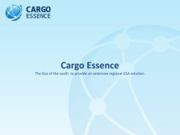 Cargo Essence / SkyGroup Strategic partnership to provide an