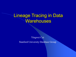 A Warehousing Approach to Data and Knowledge Integration