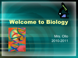 Welcome to Biology - School District of the Chathams