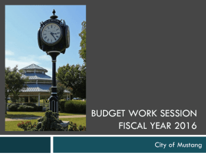 Budget Work Session Presentation