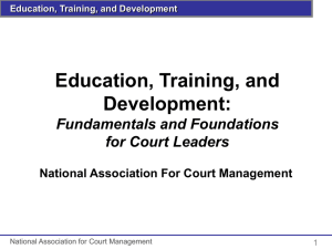 Curriculum and Instruction Defined - National Association for Court