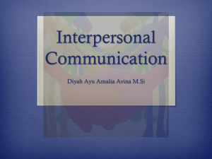 Komunikasi interpersonal - communication management