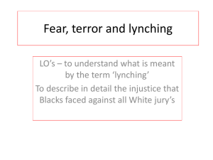 Fear, terror and lynching