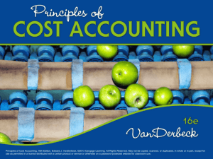 Uses of Cost Accounting Information