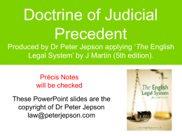 Doctrine of Judicial Precedent