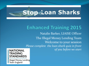 Stop Loan Sharks - Northumberland CVA