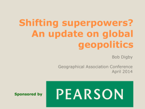Shifting superpowers? - Geographical Association