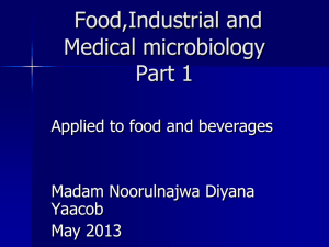 Food and industrial microbiology