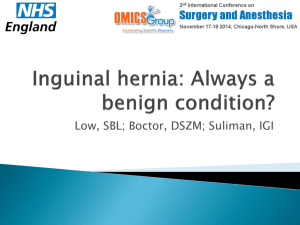 Inguinal hernia: Always a benign condition?