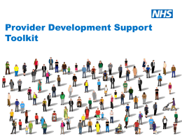 Provider Development Support Toolkit