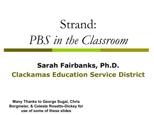 PBS in the Classroom: Evidence-Based Practices in Classroom