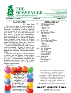 may calendar - Galilee Lutheran Church