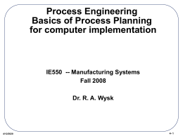 Chapter 4. PROCESS ENGINEERING