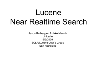 Lucene Near Realtime Search