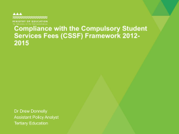 Compliance with the Compulsory Student Services