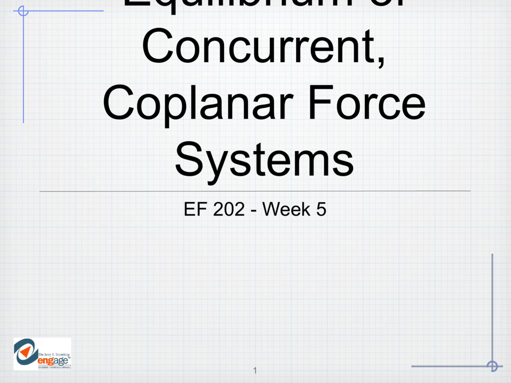 Equilibrium of Concurrent, Coplanar Force Systems Powerpoint