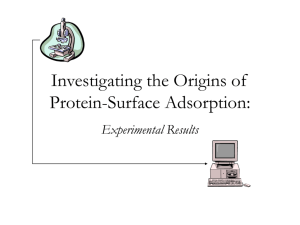 Protein-Surface Adsorption