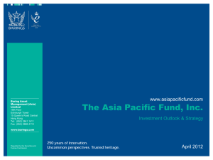 What Sets Us Apart - Asia Pacific Fund