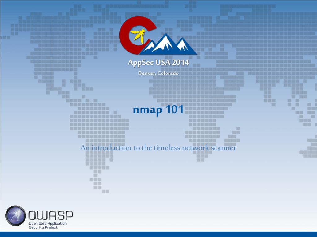 Appsec nmap slides