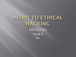 Intro to Ethical Hacking Week 2