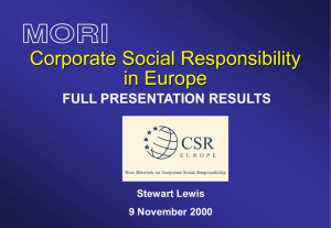 How important is Corporate Social Responsibility?