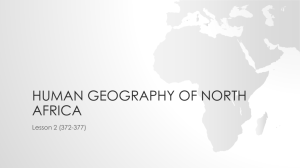 2015 Human Geography of North Africa PowerPoint Lecture for