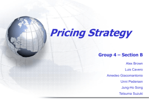 Marketing.GroupB04.Pricing Strategy