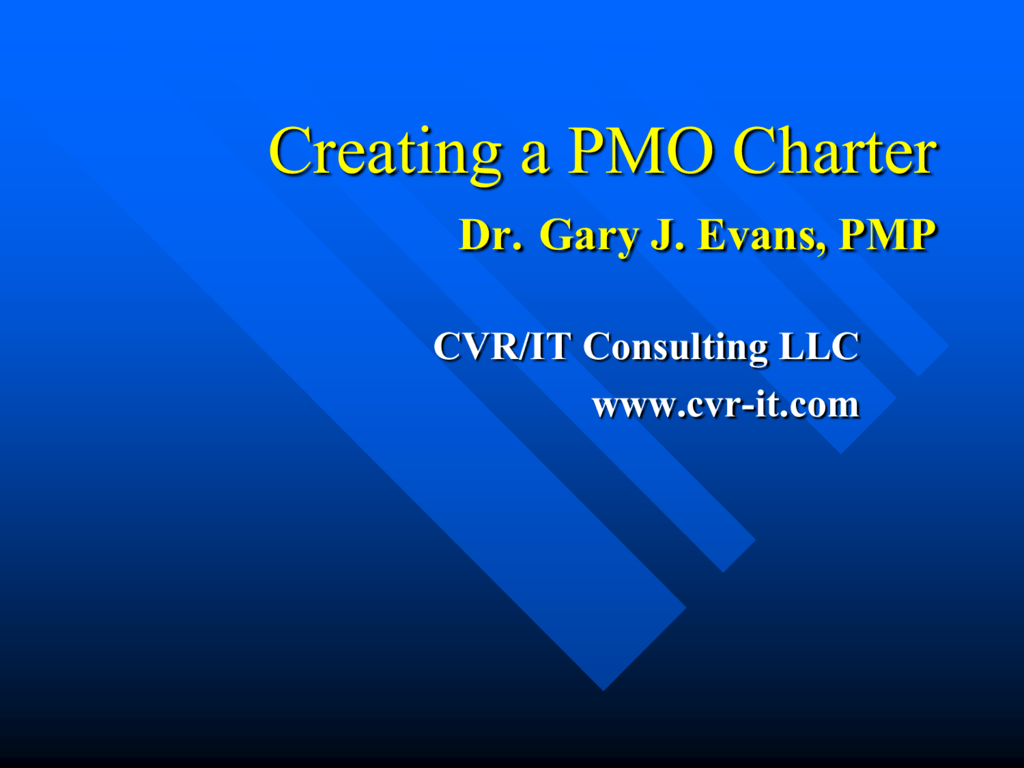 Creating A PMO Charter