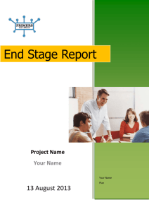 End Stage Report