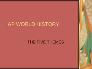 AP WORLD HISTORY 5 THEMES