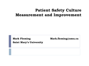 Organization and Culture - Canadian Patient Safety Institute