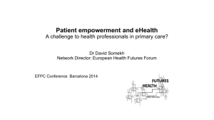 Patient empowerment A challenge to health professionals in primary