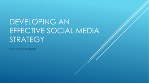 Developing an effective social media strategy