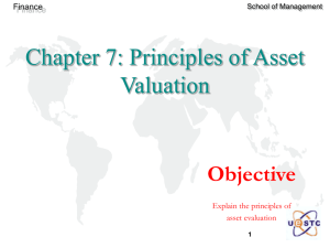 Chapter 7: Principles of Asset Valuation
