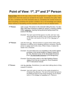 Point of View Notes - Tri-Valley Local School District